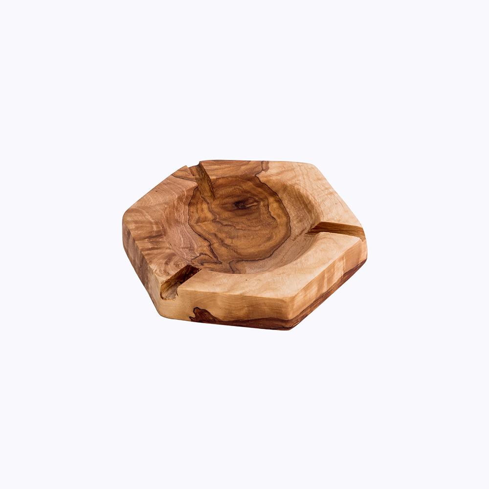 Cendrier Hexagonale Kartysan Bois olive-kartysan