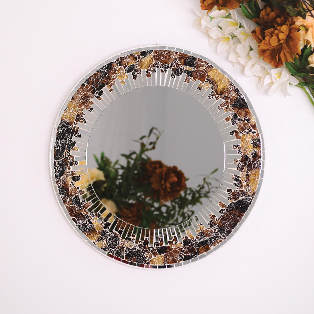 miroir rond soleil new delhi-kartysan