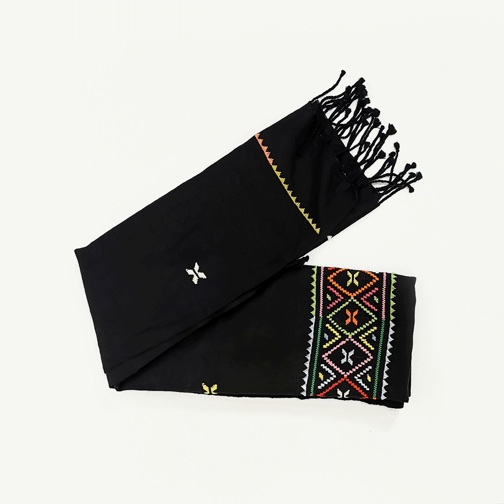 kahina echarpe black leila-kartysan
