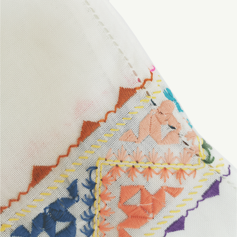 kahina echarpe blanc details-kartysan