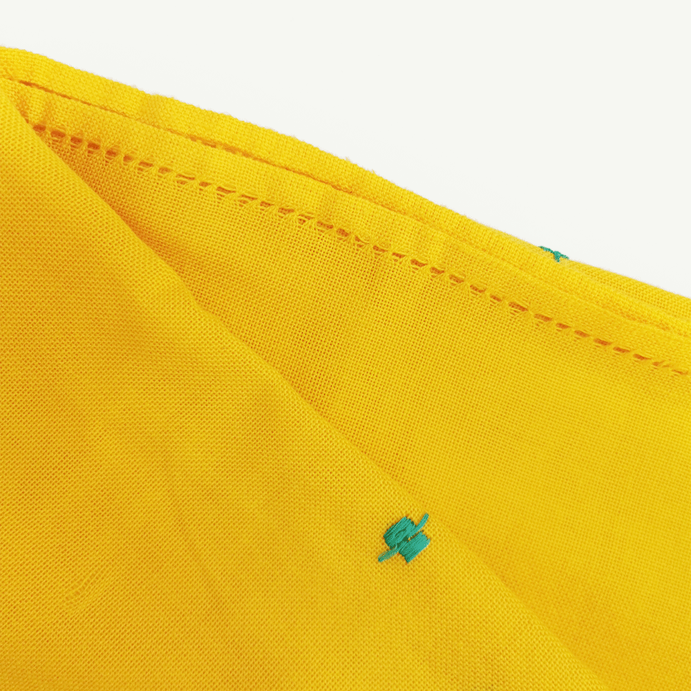 kahina echarpe jaune details-kartysan